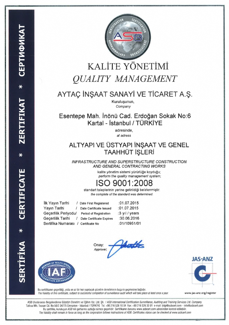Certificates ayta naat innovative construction company sertfkalar xflitez Images